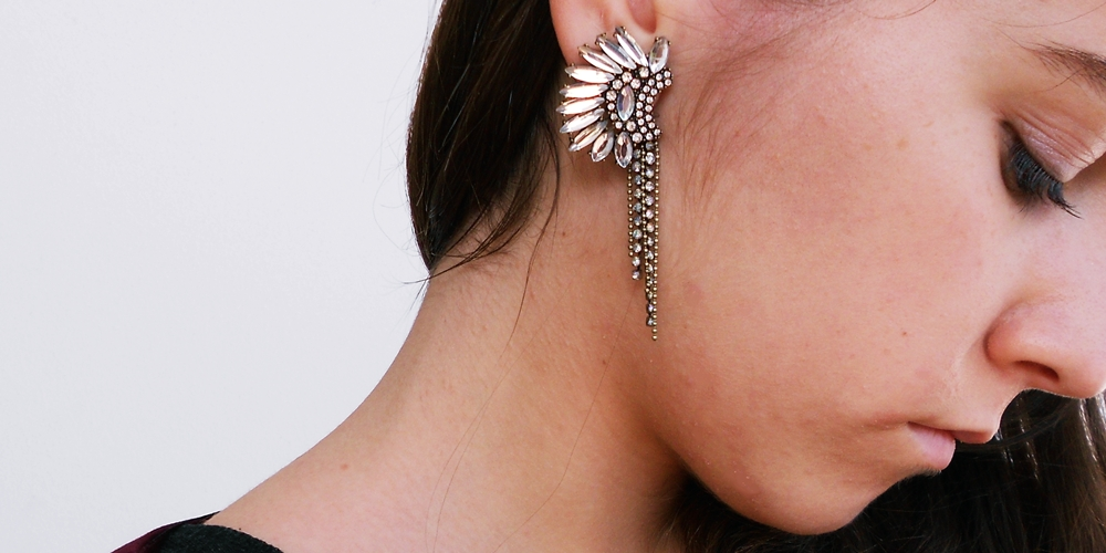 new in   earrings and boots