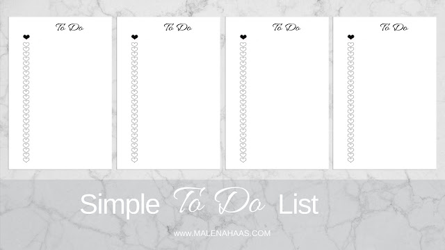 ❤ FREEBIE Friday❤  Double Sided Minimal To Do List www.MalenaHaas.com