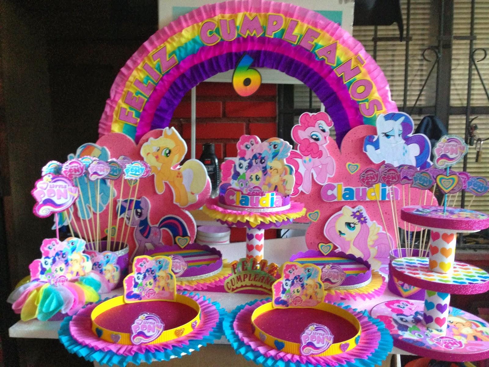 Decoraciones infantiles my little pony - Decoracion de mesas infantiles ...