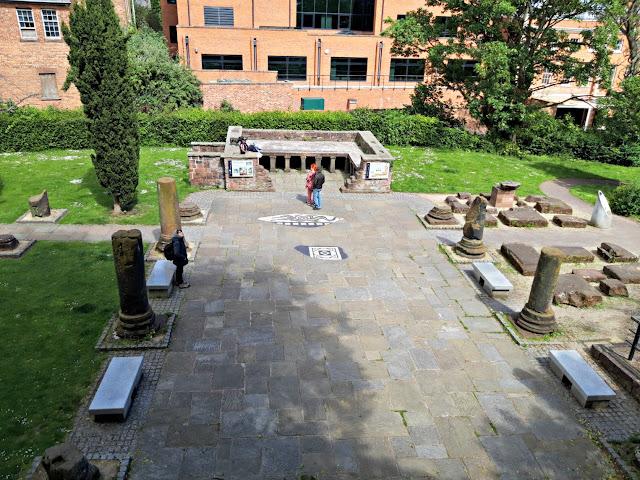 Chester Roman gardens hypocaust