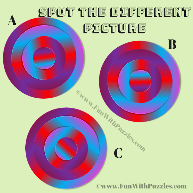 This is Color Vision Test for you in which your challenge is find the colored circle which is different from other two similar looking Circles.