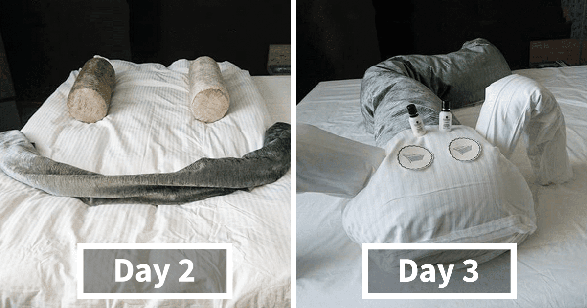 Bored Business Traveler 'Challenges' His Housekeeper In A Funny And Creative Way