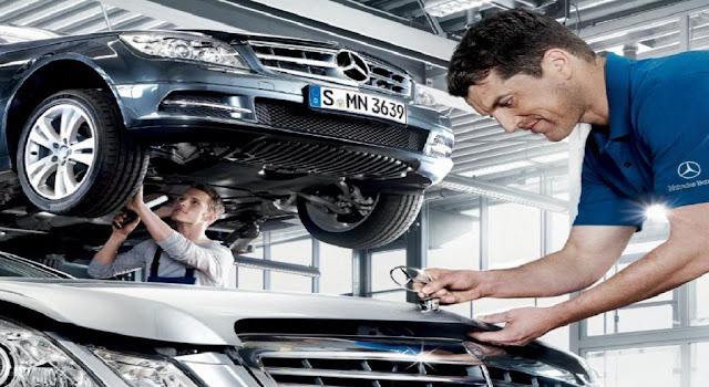 Kiểm tra sửa chữa xe Mercedes tại Mercedes Trường Chinh
