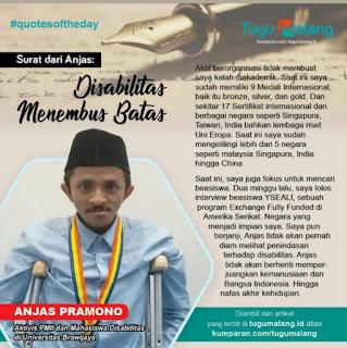Cerita Disabilitas, Aktivis Membanggakan Indonesia Si Anjas Pramono