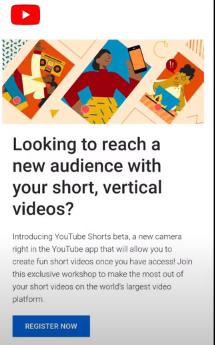 YouTube Shorts Email