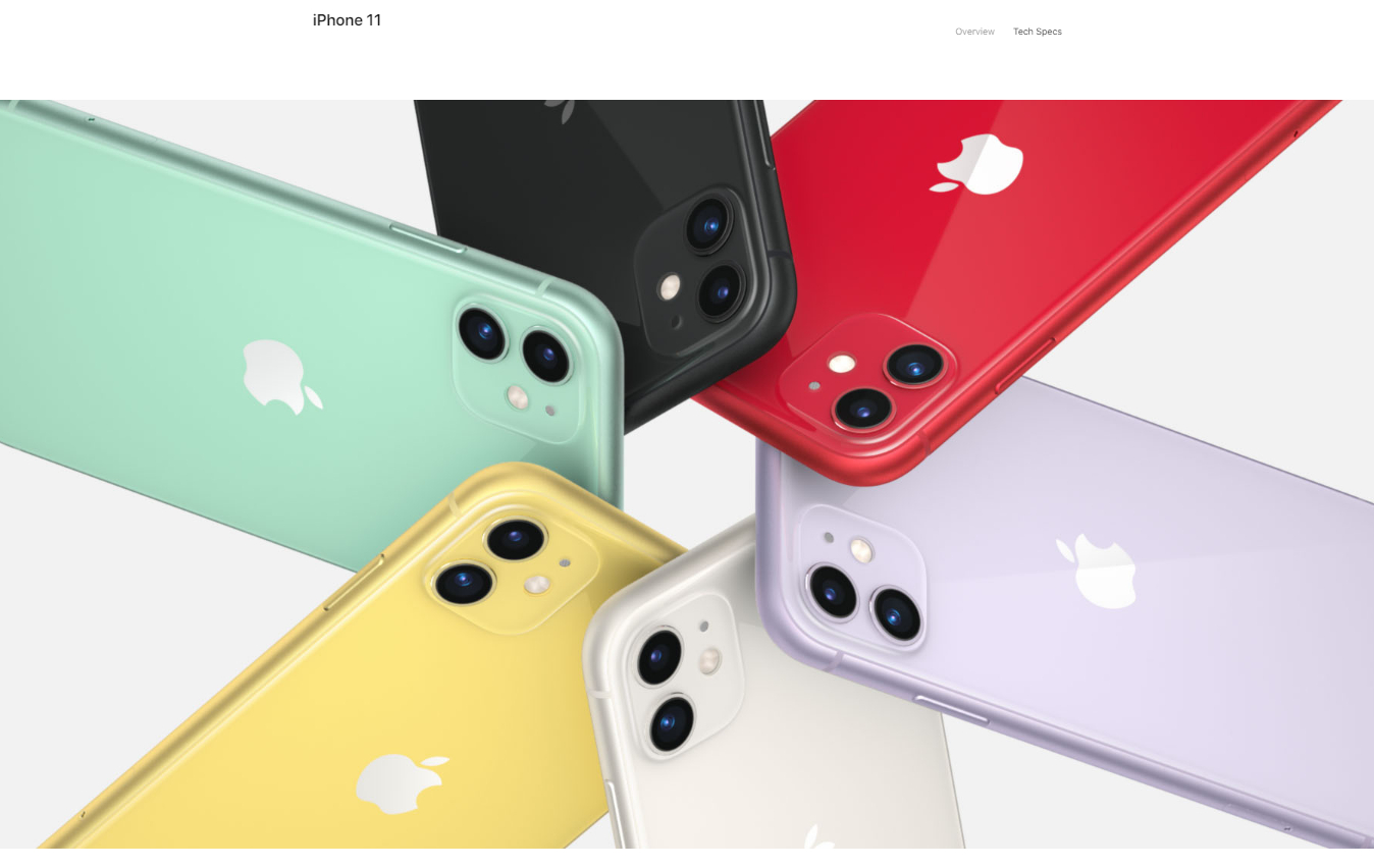 iPhone 11 color variants