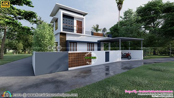 side elevation design of a contemporary home