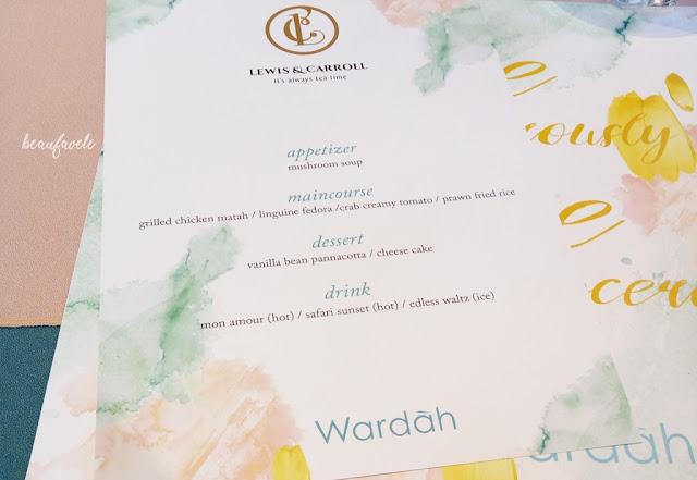menu buka puasa di lewis & caroll