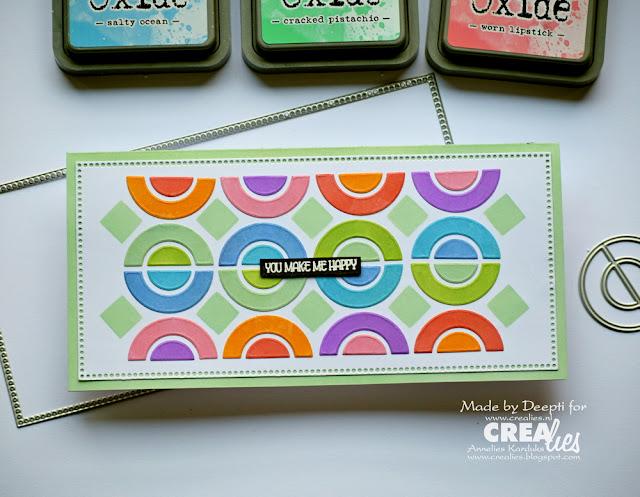 Circle Geometric pattern Handmade cards
