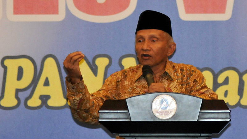 Amien Rais berpidato di kongres BM PAN Jakarta