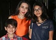 karisma kapoor with her children