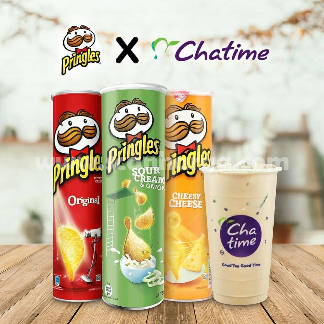 Pringles X Chatime Promo GRATIS e-Voucher Chatime senilai Rp 23.000