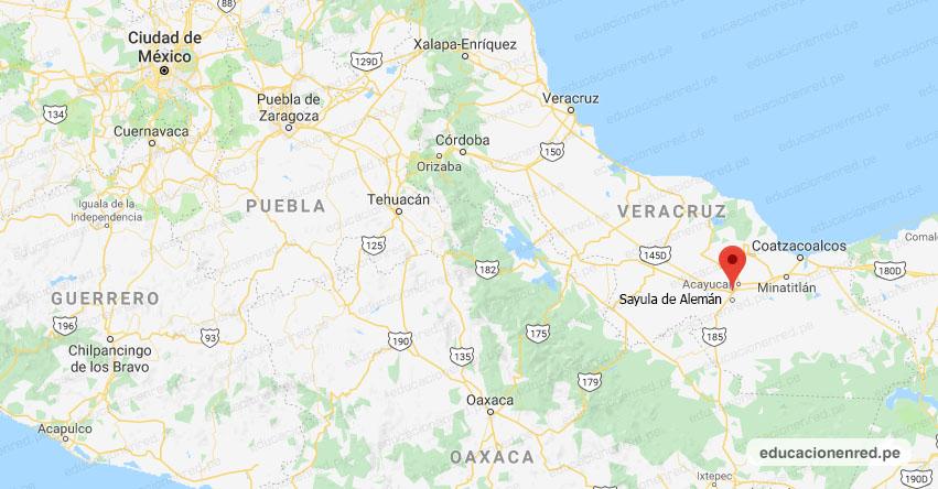 Temblor en México de Magnitud 4.3 (Hoy Viernes 09 Agosto 2019) Sismo - Epicentro - Sayula de Alemán - Veracruz de Ignacio de la Llave - VER. - SSN - www.ssn.unam.mx