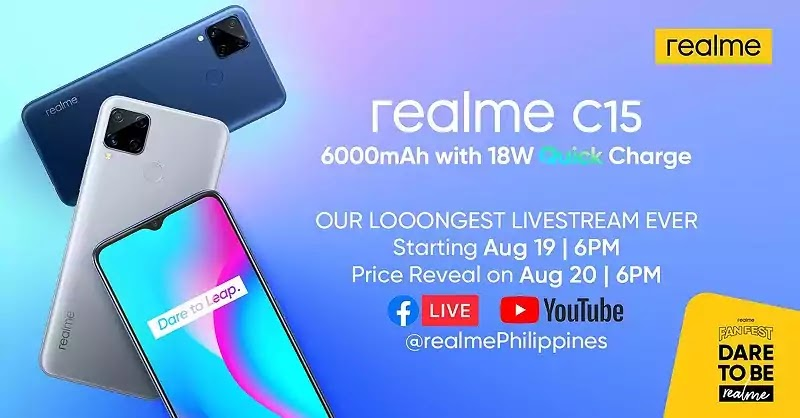 realme to launch the realme C15