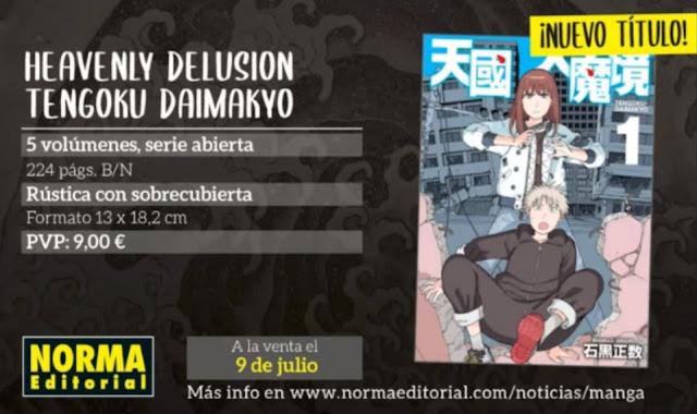 TENGOKU DAIMAKYO licenciado por Norma Editorial.
