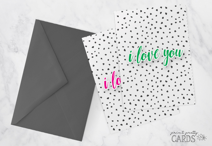 I Love You Card Printable