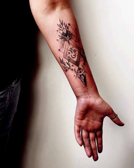 capricorn astrology tattoos on arm