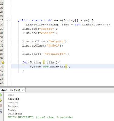 menambah elemen linkedlist