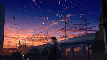 Anime, Girl, City, Sunset, Scenery, 4K, #6.2589