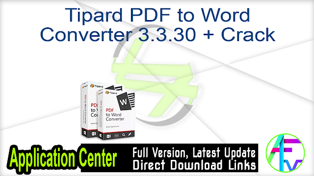 Tipard PDF to Word Converter 3.3.30 + Crack