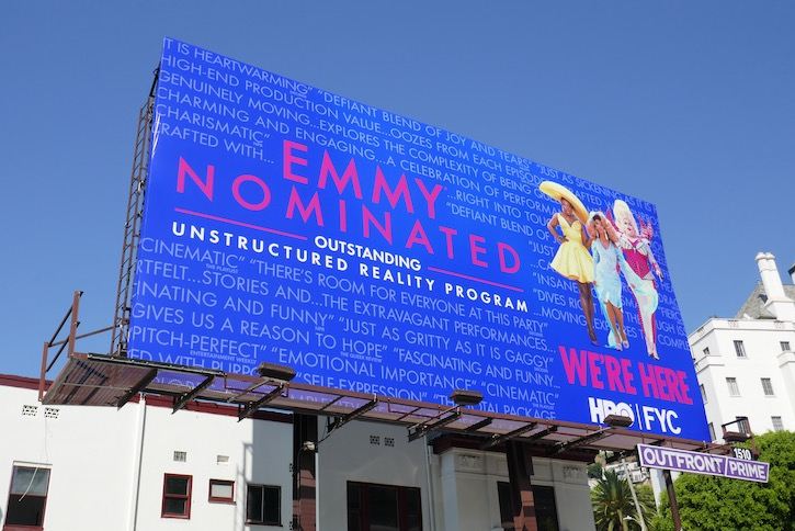 Were Here season 1 Emmy nominee billboard