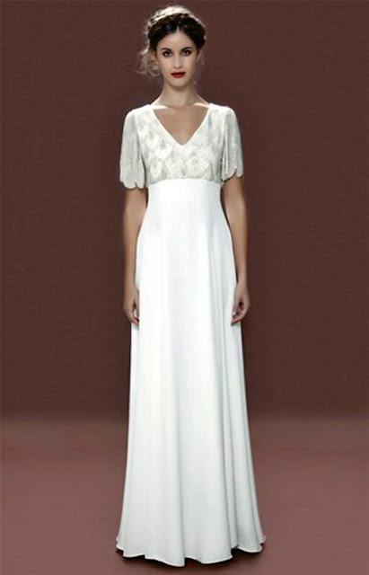 f9d65bac007 Dann denken Sie nochmal nach   Brautkleider im Empire-Stil schmeicheln fast  allen Körperformen und der geniale Schnitt lässt ...