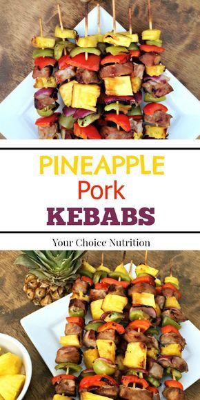 Pineapple #Pork #Kebabs