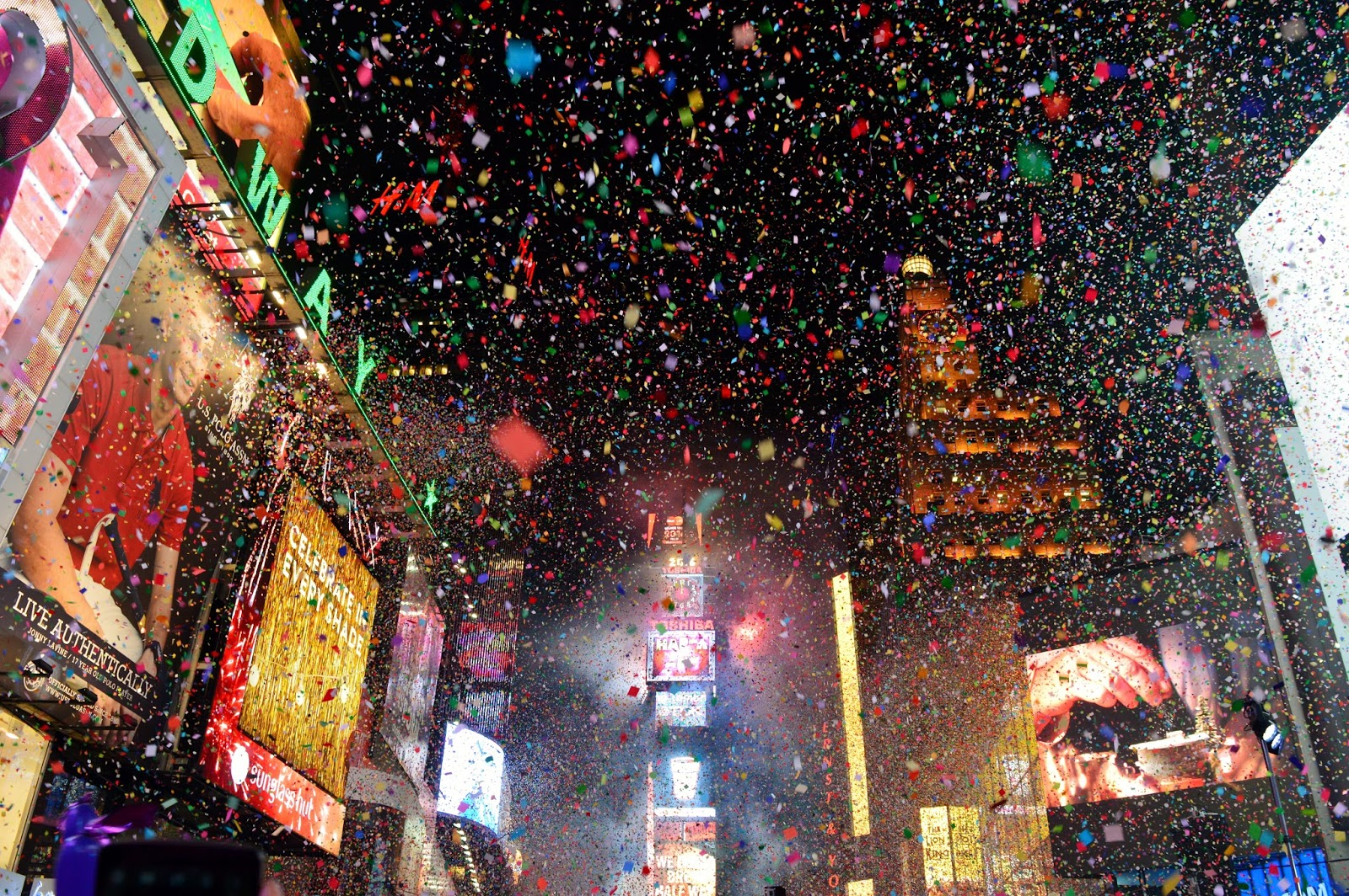 New York Time Square New Year Countdown 2016