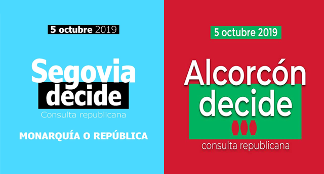 Segovia y Alcorcón elegirán el 5 de octubre entre monarquía y república en una consulta popular