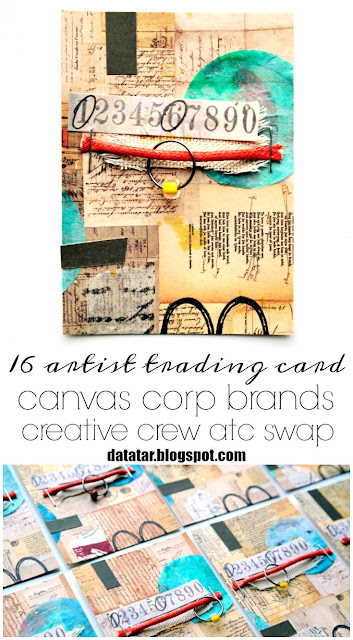 Artist Trading Card Tutorial by Dana Tatar for Canvas Corp Brands ATC Swap