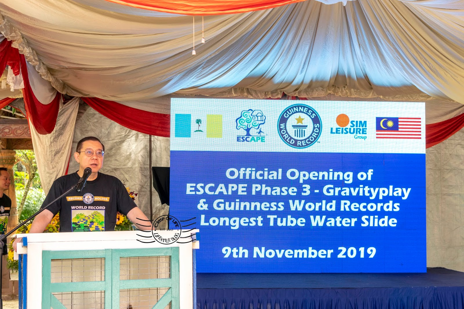 Gravityplay World Longest Slide Grand Launch at ESCAPE Theme Park Penang