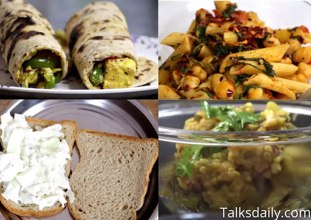 easy to cook lunch recipes, healthy lunch ideas to make at home,  healthy snacks made at home