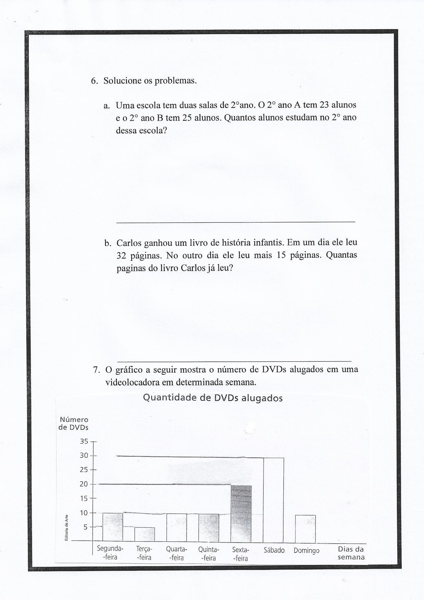 Atividade de Adição Matemática para Ensino Fundamental