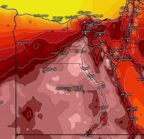 تحذيرات ..درجات الحرارة في مصر يوم الأحد تتخطى دول الخليج والهند