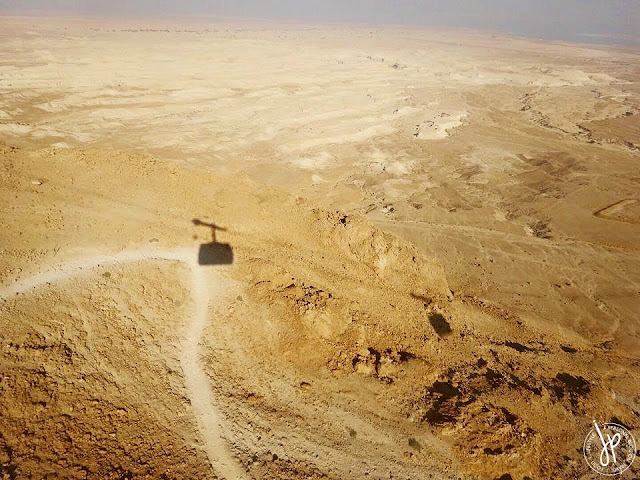 masada on the judean desert