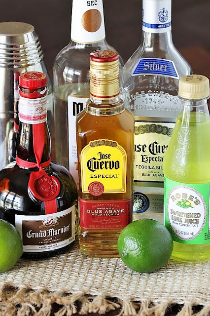 Top Shelf Margarita with Middle Class Tequila Ingredients Image