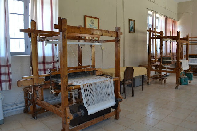 Silk workshop at the Kalograion Monastery, Kalamata