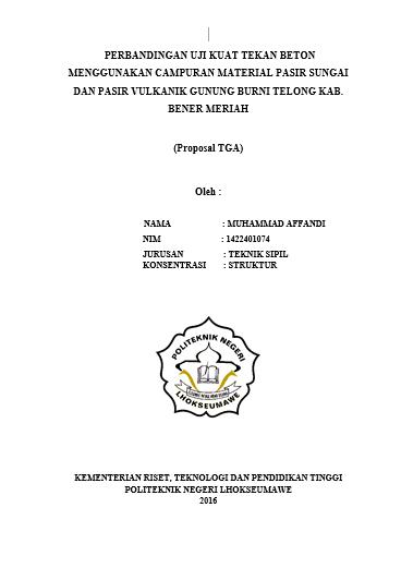 Contoh Proposal Tugas Akhir Teknik Sipil Struktur Berbagai Struktur