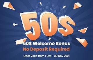 Bonus Forex Tanpa Deposit HonorFX $50