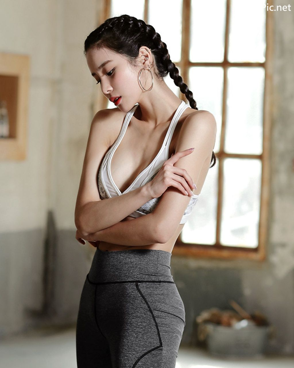 Image-Korean-Fashion-Model-Ju-Woo-Fitness-Set-Collection-TruePic.net- Picture-10