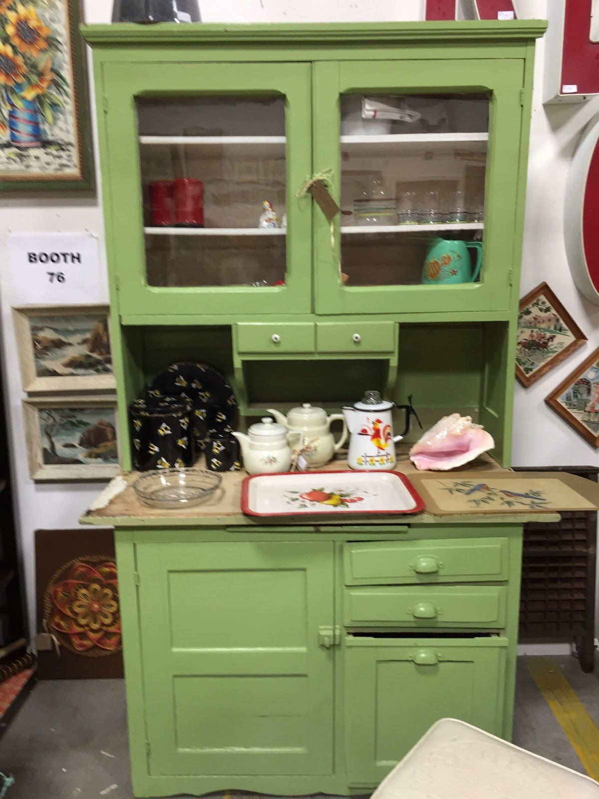 Using An Old Bakeru0027s Cabinet As A Home Work Or Craft Station