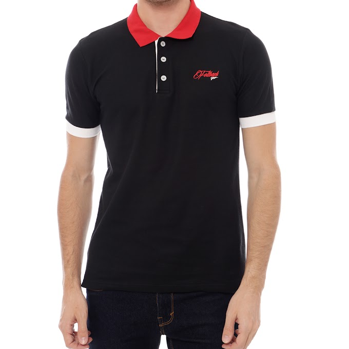 Atasan Pria Polo Shirt Premium F3 Boston Black