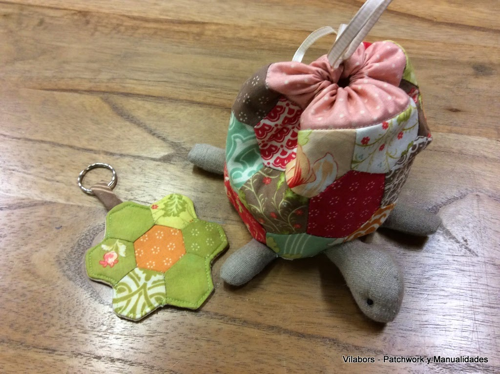 Neceser tortuga con llavero a juego - Patchwork Vilabors