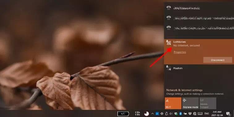 Cara Mengatasi No Internet, secured di Windows 10