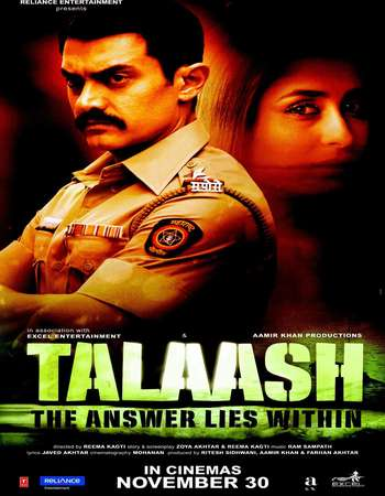Poster Of Talaash 2012 Hindi 600MB BRRip 720p ESubs HEVC Watch Online Free Download downloadhub.in