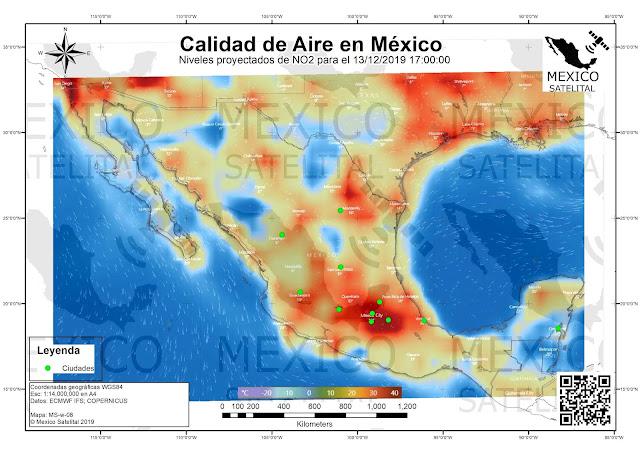 mapa de calidad de aire y contaminacion