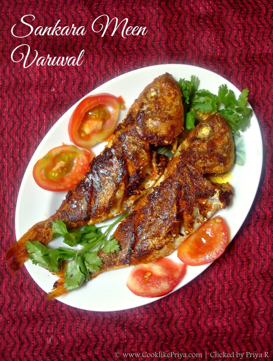 Cook Like Priya Red Snapper Fish Fry Sankara Meen Varuval South Indian Fish Fry Recipe