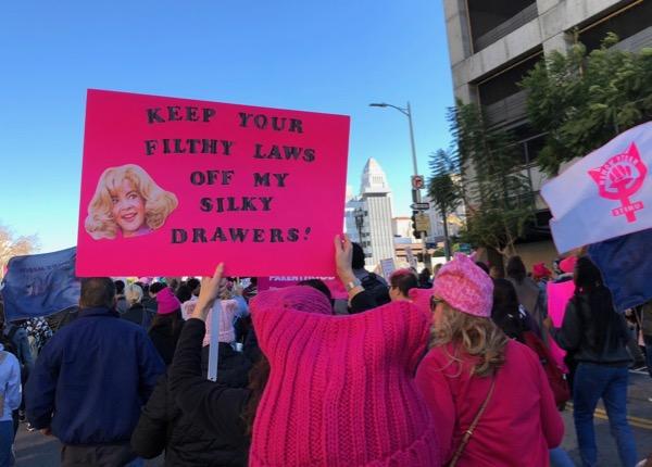 Womens March LA 2018 Grease Rizzo sign