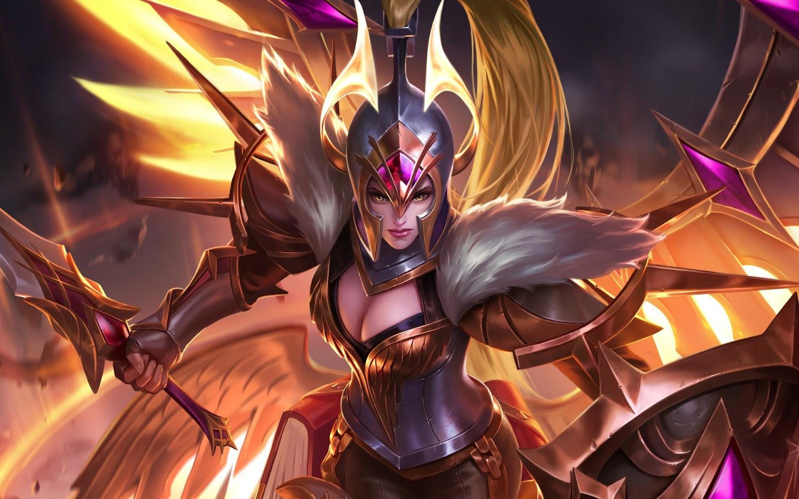 Wallpaper Freya War Angel Skin Mobile Legends Full HD for PC