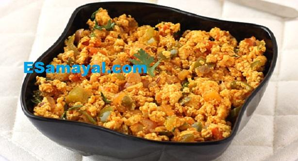 மசாலா முட்டை பன்னீர் புர்ஜி செய்வது | Spicy Egg Paneer Bhurji Recipe !